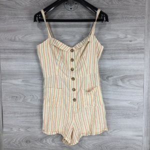 Urban Outfitters Button Front Romper